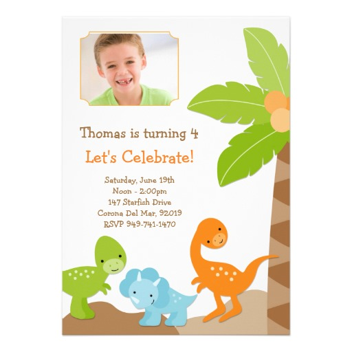 dinosaur birthday invitation template free ; party-invites-dinosaur-birthday-party-invitation-template-and-card-design-sample-with-cute-and-colorful-dinosaur-and-coconut-tree-decals