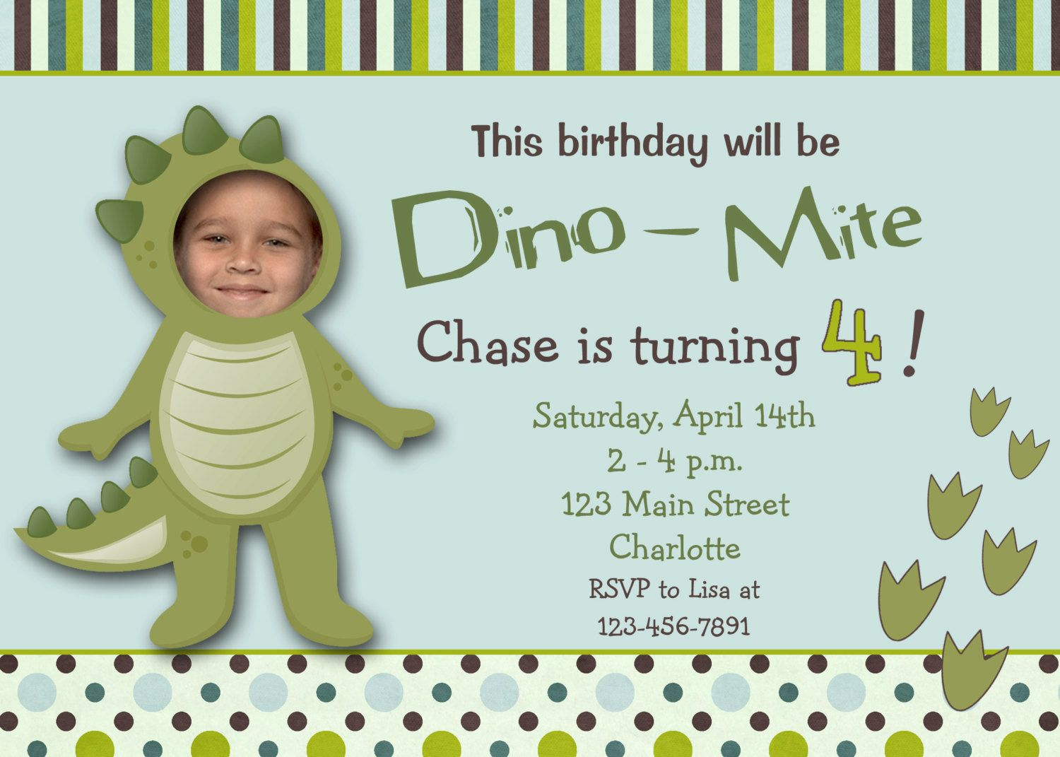 dinosaur birthday invitations with photo ; 8ccf859ed79676b05cb9639ab6df5b62