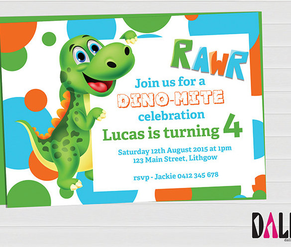 dinosaur birthday invitations with photo ; Dinosaur-Party-Dinosaur-Invitation-Printable-Invitation