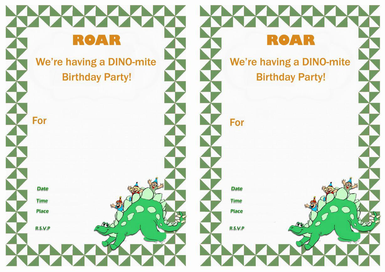 dinosaur birthday invitations with photo ; Dinosaur-Train-Invitations-Birthday-Free