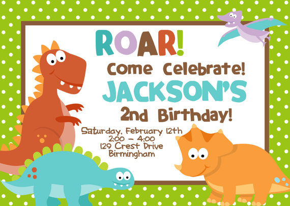 dinosaur birthday invitations with photo ; Dinosaur-birthday-invitations-combined-with-your-creativity-will-make-this-looks-awesome-1
