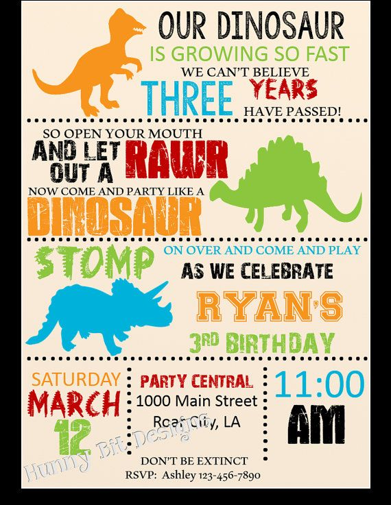 dinosaur birthday invitations with photo ; Dinosaur-birthday-party-invitations-and-get-ideas-how-to-make-sensational-party-invitation-appearance-1