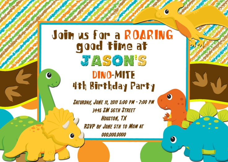dinosaur birthday invitations with photo ; c48b9cfb643c17a4e6824efbb2687dde--dinosaur-birthday-invitations-personalized-birthday-invitations