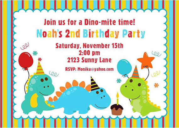 dinosaur birthday invitations with photo ; cute-dinosaur-birthday-invitations-dinosaur-birthday-invitation