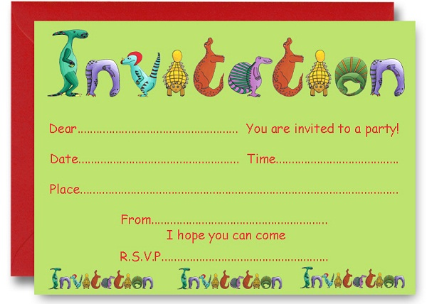dinosaur birthday invitations with photo ; dinosaur-birthday-party-invitations-free-printable