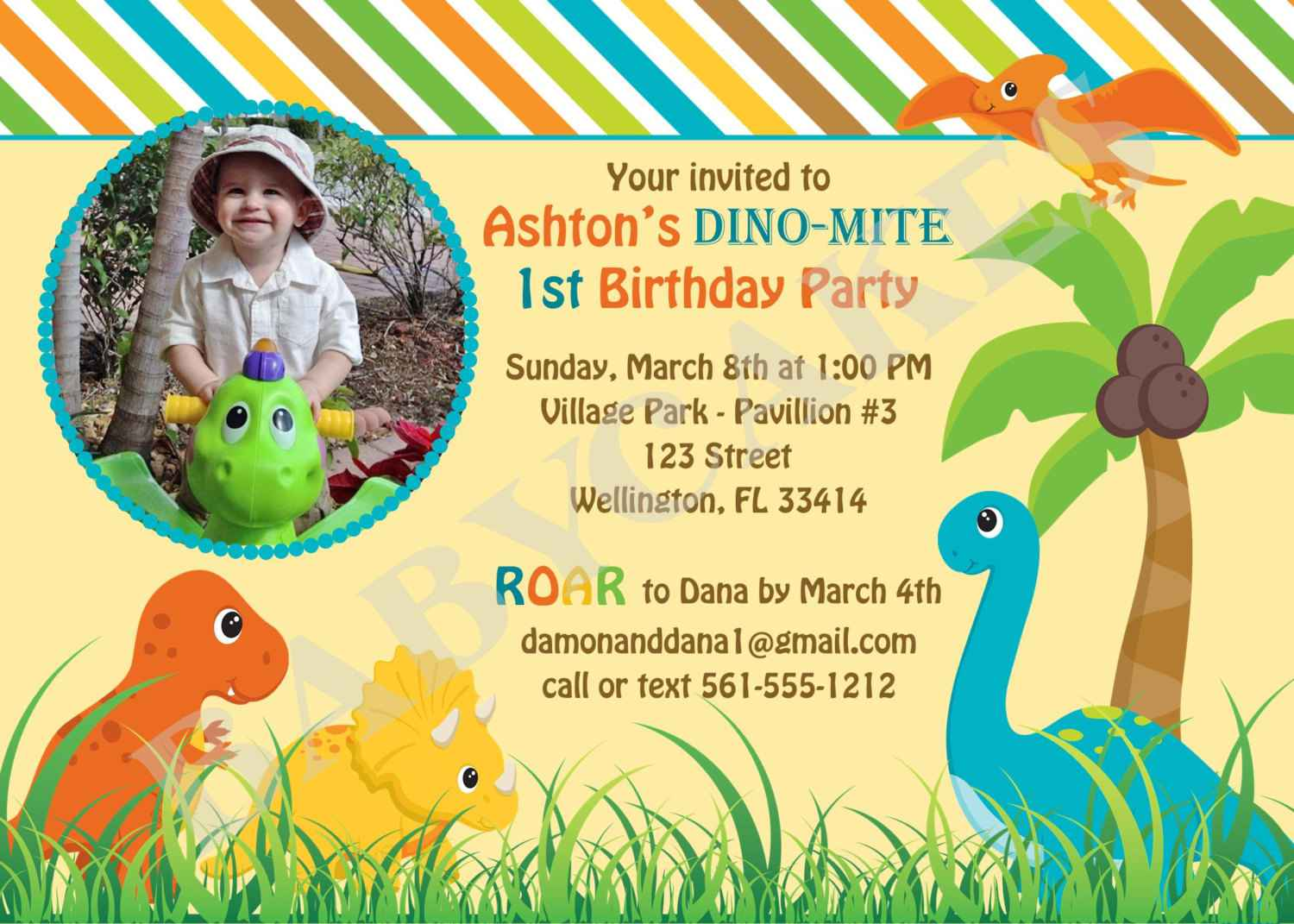 dinosaur birthday invitations with photo ; dinosaur_birthday_invitations_3