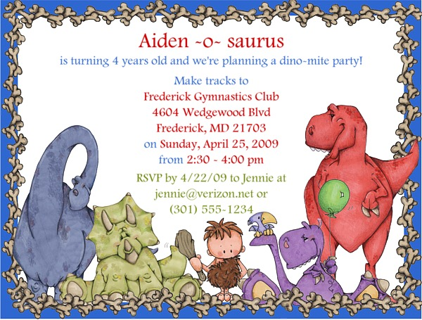 dinosaur birthday invitations with photo ; dinosaurinvite