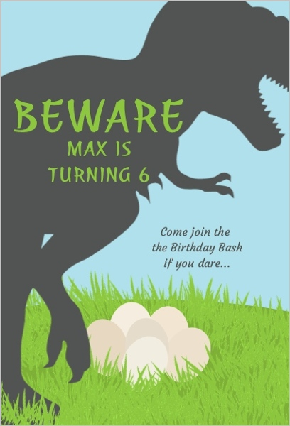 dinosaur birthday invitations with photo ; trex-dinosaur-birthday-party-invitation_2045_1_large