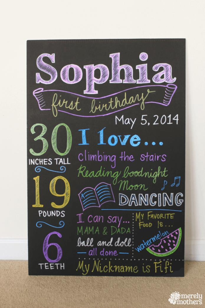 diy birthday poster ; DIY-Birthday-Chalkboard-2