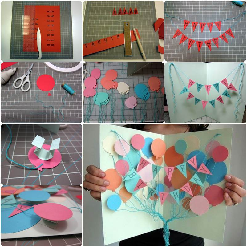 diy birthday poster ; How-to-DIY-Happy-Birthday-Banner-and-Balloon-Card-thumb