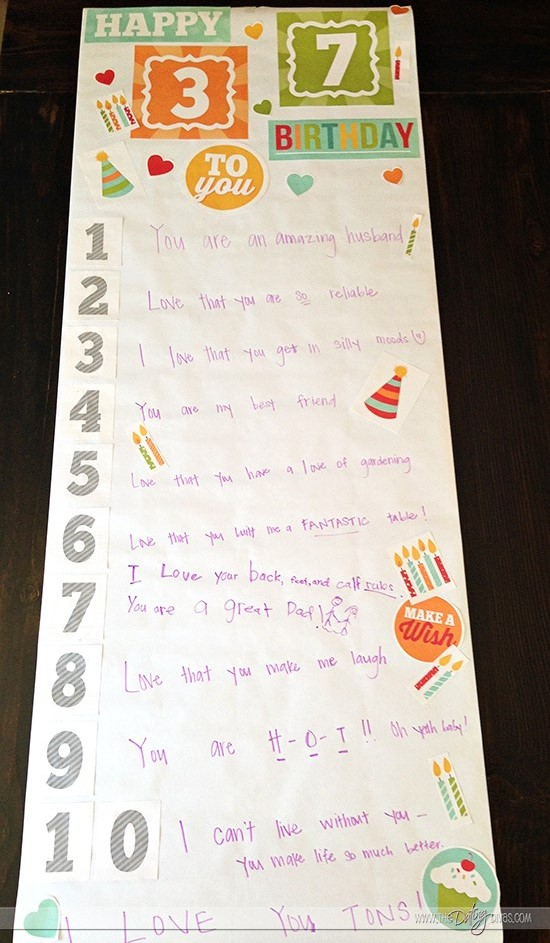 diy birthday poster ; diy-birthday-banner-finished-product
