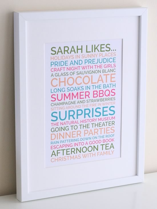 diy birthday poster ; personalised-likes-woman-angle-550x732