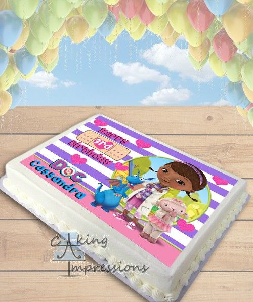 doc mcstuffins birthday sheet cake ; 0bfcd3260349dde96e50e80e1b1aac13--th-birthday-birthday-cakes