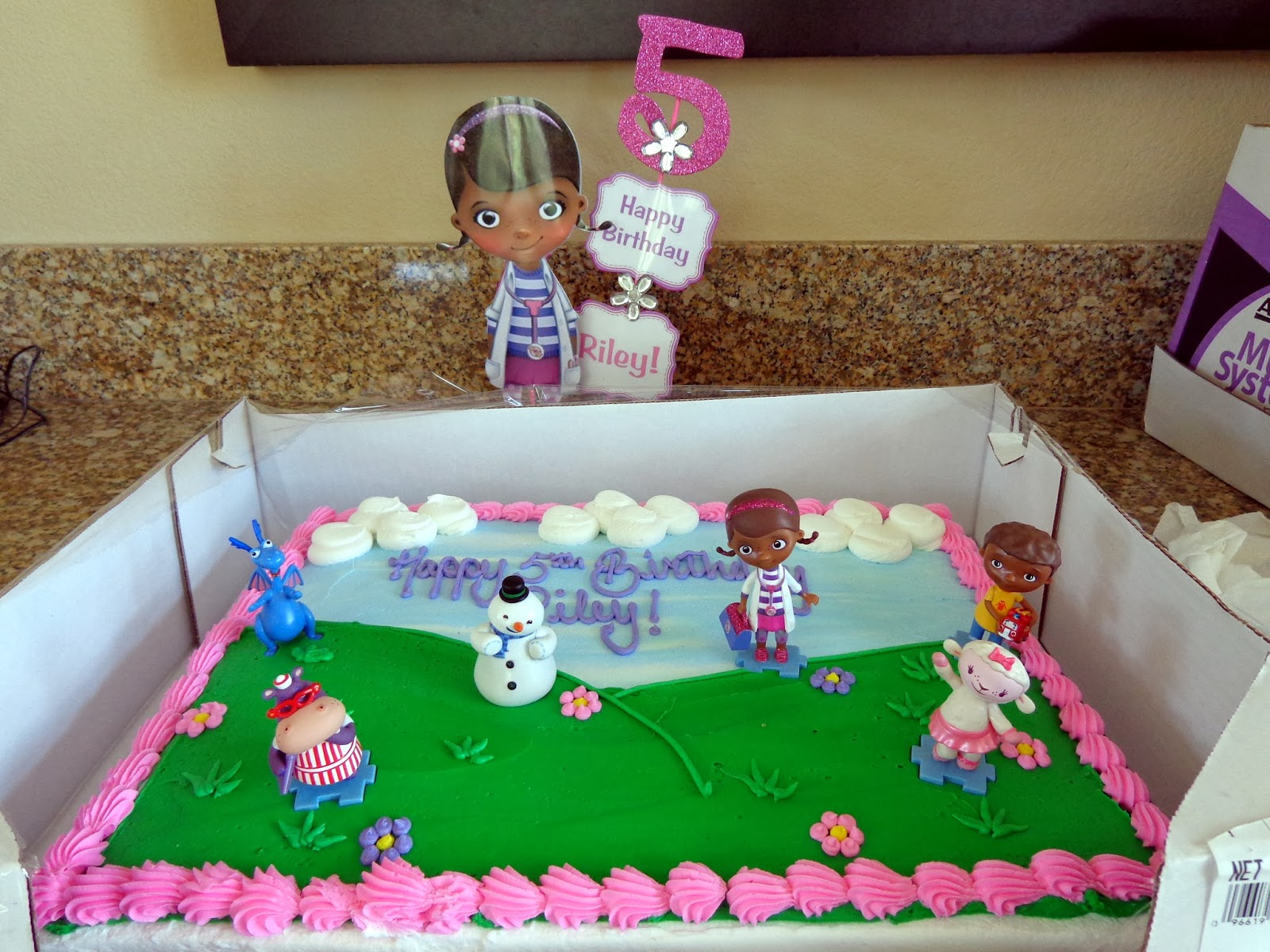 doc mcstuffins birthday sheet cake ; DSC02648