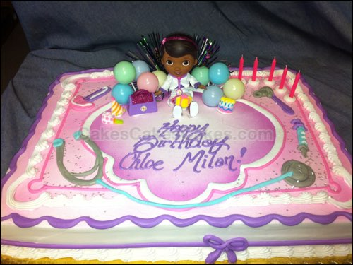 doc mcstuffins birthday sheet cake ; FC068
