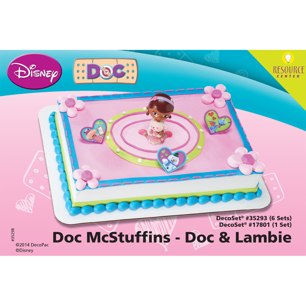 doc mcstuffins birthday sheet cake ; doc-mcstuffins-doc-and-lambie-decoset-cake-decorating-instructions-35298-1