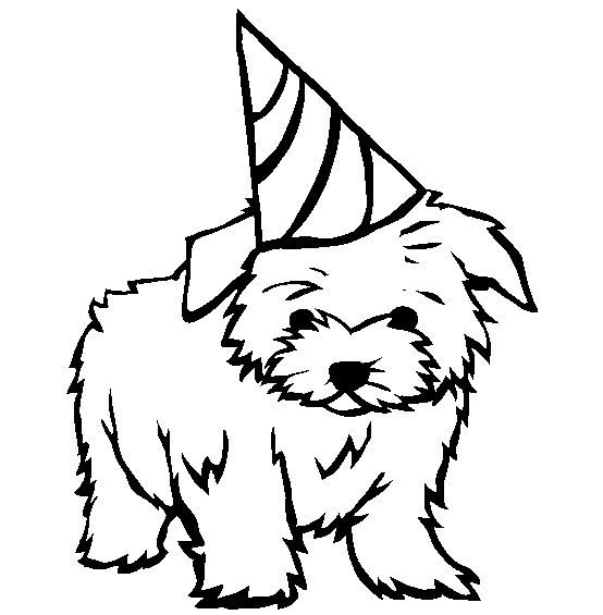dog birthday coloring pages ; 6fd9fc3d7e72cea1110bbebbf207284b--cute-coloring-pages-kids-coloring
