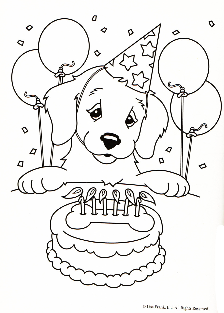 birthday dog coloring pages - dog birthday coloring pages best happy birthday wishes