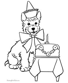 dog birthday coloring pages ; a6c326b87e514f9ea8a04dc497de4983--funny-dogs-cute-dogs