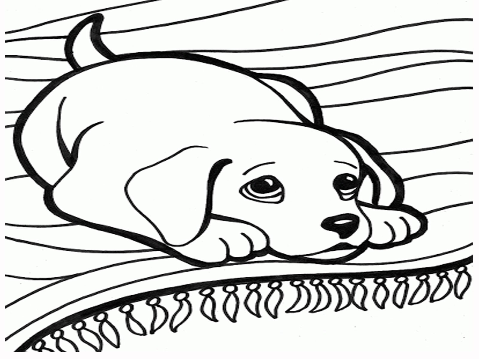 dog birthday coloring pages ; cat-and-dog-coloring-pages-barbie-new-baby-in