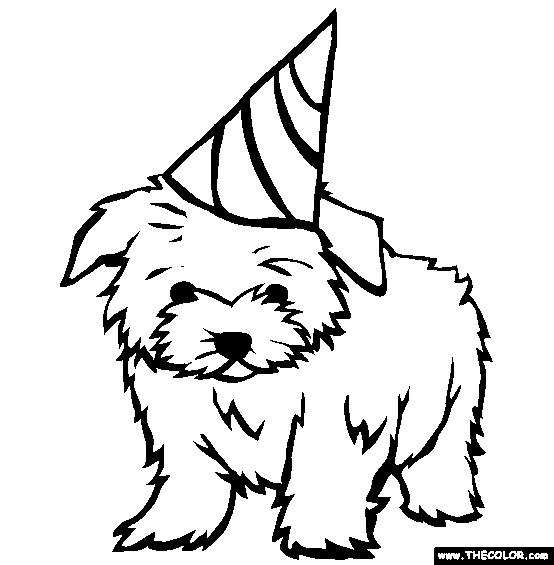 dog birthday coloring pages ; coloring-pages-dogs-maltese-coloring-page