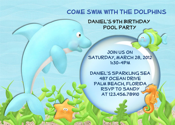 dolphin birthday invitations printable ; 057d25fb33d1cc381196b6f7cece04f0