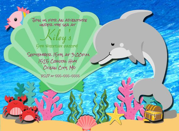 dolphin birthday invitations printable ; 1568004a298e7c8249baaa44280f3cb5