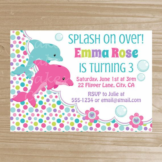 dolphin birthday invitations printable ; 1aacefed12fb07ef0b814e5d6c54bf65