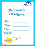 dolphin birthday invitations printable ; 5thCards4