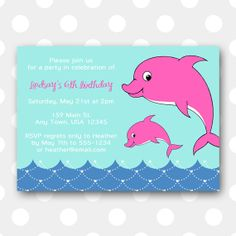 dolphin birthday invitations printable ; 80fc8ce94f984b369d6b7745d0c4a679--dolphin-birthday-parties-dolphin-party