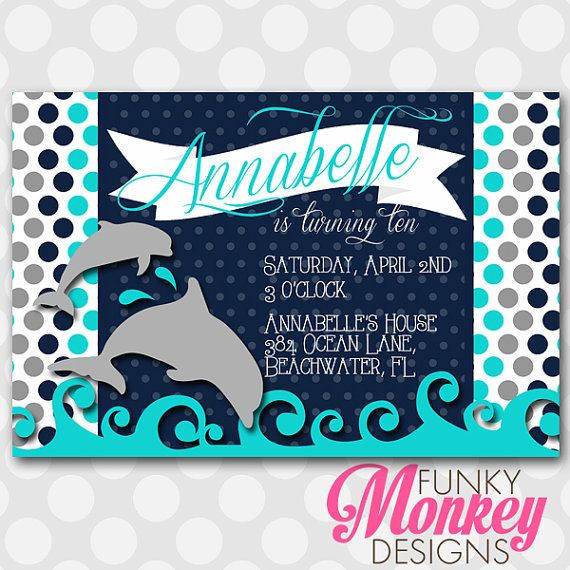 dolphin birthday invitations printable ; 8a3ff2dbdc5876a16f067b213e62453e