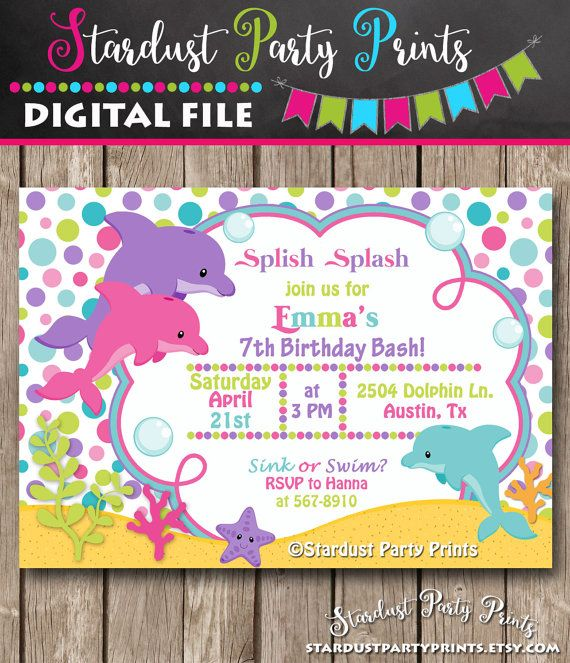 dolphin birthday invitations printable ; 9f29e448d5e39b98d66f287611a09c16