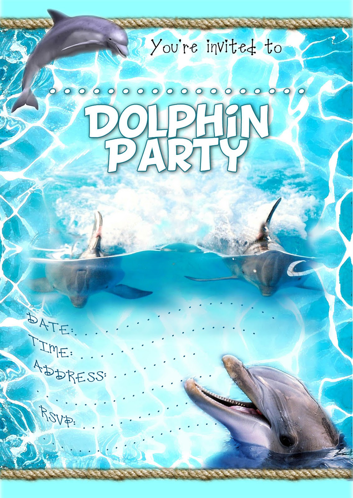 dolphin birthday invitations printable ; DolphinInvite+general