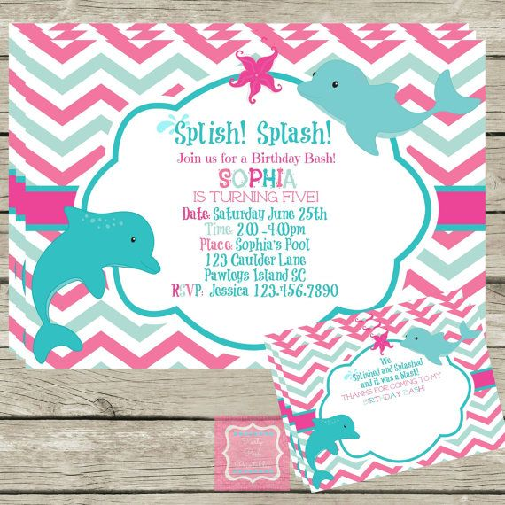 dolphin birthday invitations printable ; ae164a4aae315ce00590b4c541507727