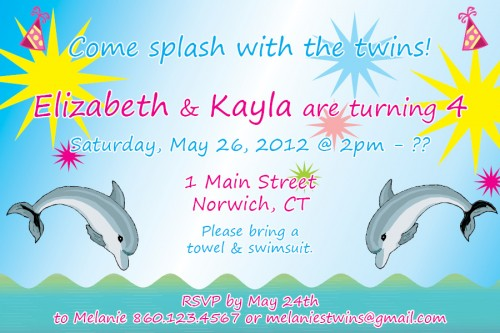 dolphin birthday invitations printable ; custom_printable_designed_dolphin_theme_birthday_party_invitation_54d3b86a