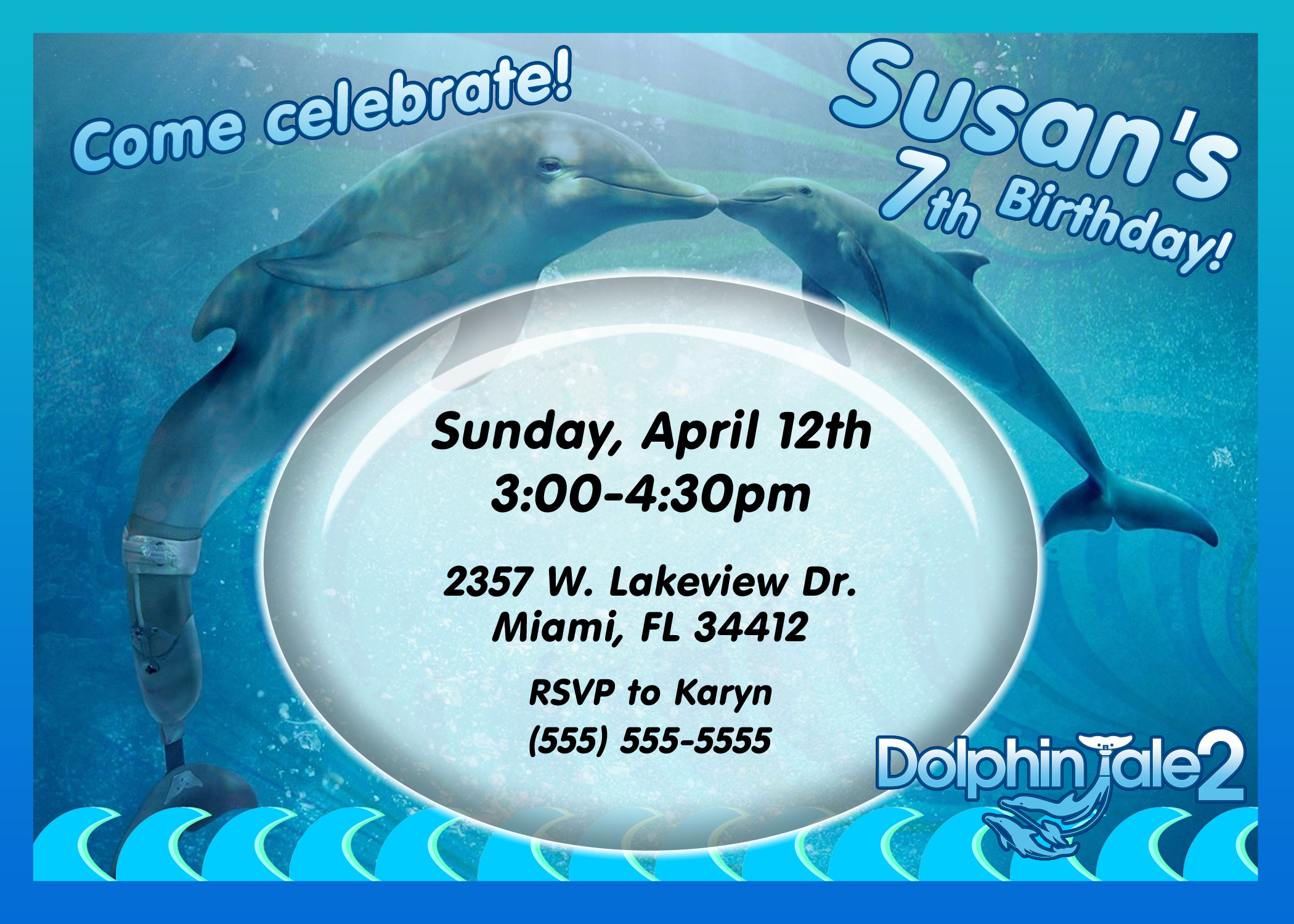 dolphin birthday invitations printable ; dolphin-tale-2-birthday-invitation