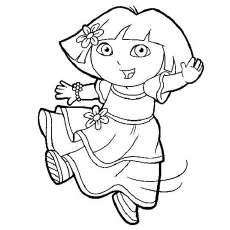 dora birthday coloring pages ; The-Dora-As-Ballet-Dancer