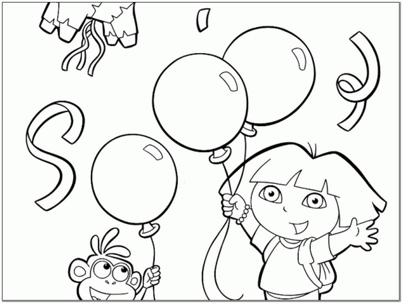 dora birthday coloring pages ; cartoon-happy-birthday-dora-the-explorer-coloring-pages-for-kids-dora-cartoon-coloring-kids