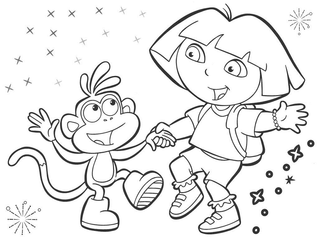 dora birthday coloring pages ; dora-printable-coloring-pages-bebo-pandco