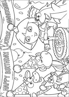dora birthday coloring pages ; f2c3456e6e7844d98b51f180e76d2cc4--dora-l-exploratrice-kids-coloring