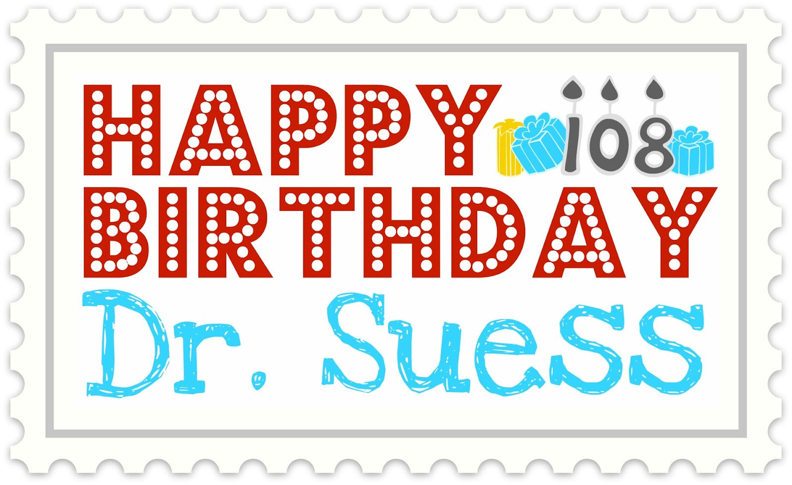 dr seuss happy birthday sign ; suess