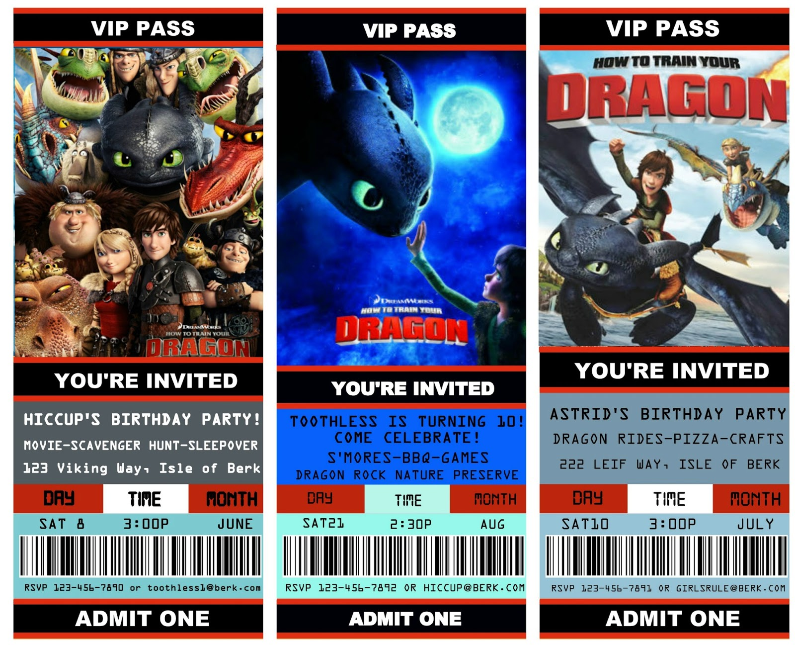 dragon birthday invitations printable ; how+to+train+your+dragon+free+movie+ticket+style+invitations