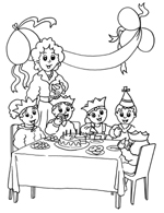 drawing of my birthday party ; kids_template_7