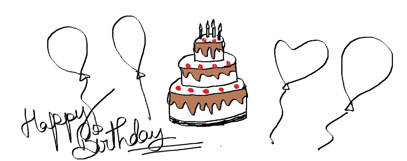 drawings for a birthday ; simple-birthday-drawings-easy-kids-drawing-lessons-how-to-draw-a-cartoon-birthday-cake-valentine-coloring-pages-free