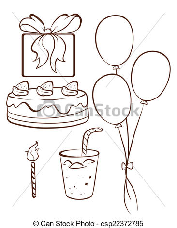 drawings for a birthday ; simple-birthday-drawings-illustration-of-a-simple-drawing-of-a-birthday-celebration-disney-pictures-to-colour-in