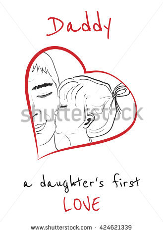 drawings for dads birthday ; stock-vector-daddy-is-a-daughters-first-love-daughter-kissing-father-hand-drawn-monochrome-vector-sketch-424621339