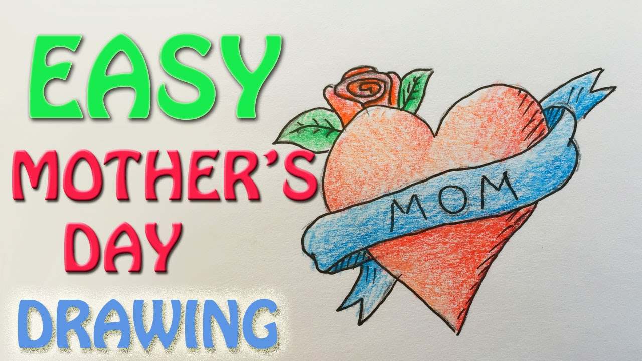 drawings for mother's birthday ; maxresdefault