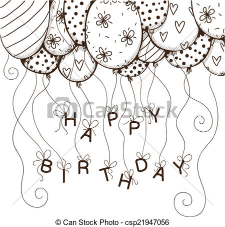 drawings of birthday balloons ; air-balloons-border-with-text-for-clipart-vector_csp21947056