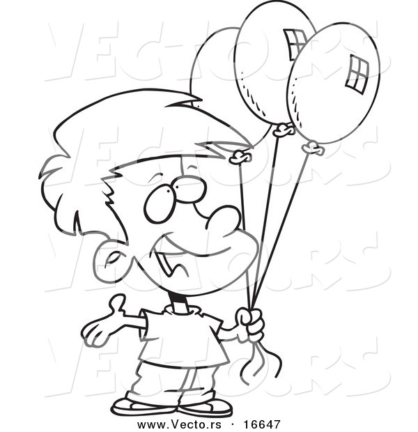 drawings of birthday balloons ; birthday-balloon-drawing-42