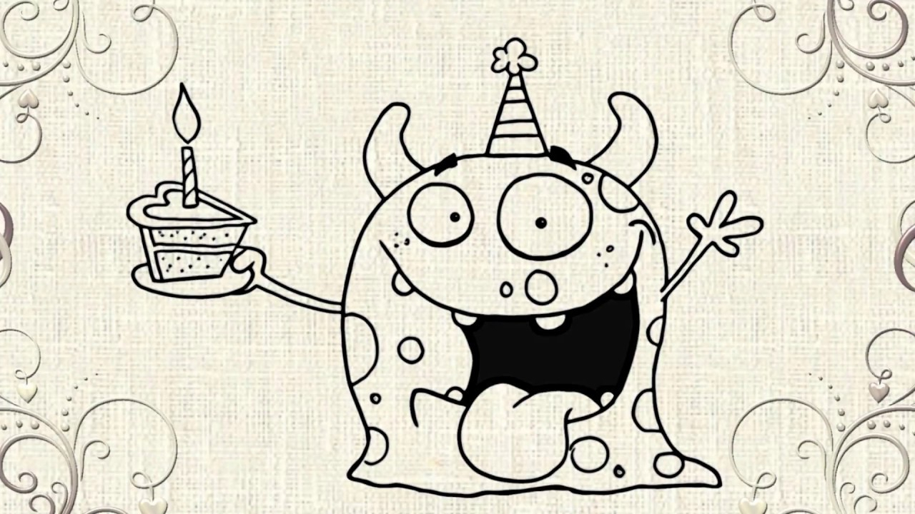 easy happy birthday drawings ; drawing-of-happy-birthday-happy-birthday-drawing-youtube